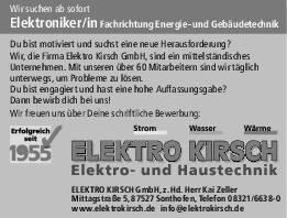 Stellenangebote Elektro Kirsch Gmbh